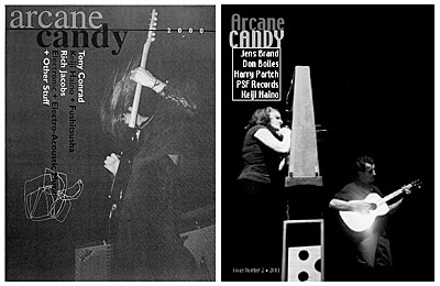 Covers of Arcane Candy issues one and two.