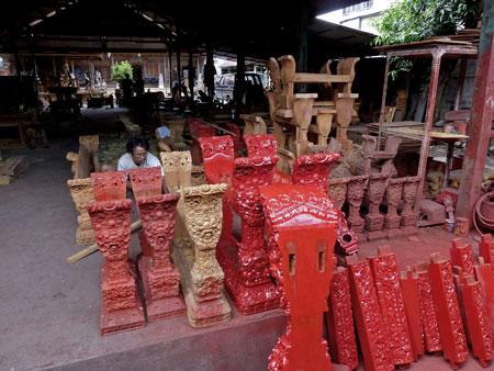 The gamelan foundry in Blahbatuh, Bali.