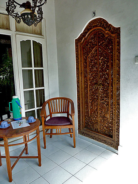 My room at the Frog Pond Inn in Ubud, Bali.