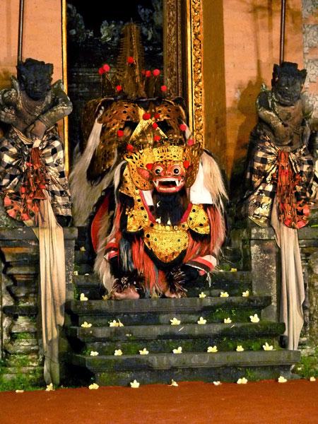 Barong dance at the Ubud Palace in Ubud, Bali.