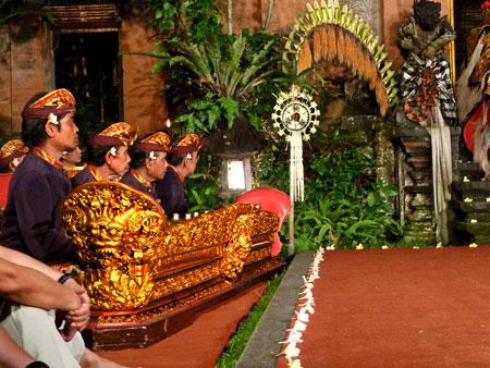 Gamelan at the Ubud Palace in Ubud, Bali.
