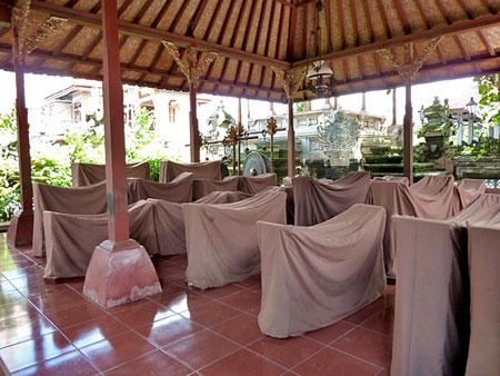 Sleeping gamelan at the Ubud Palace in Ubud, Bali.