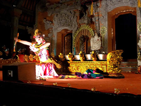The Kebyar Trompong dance at Ubud Palace in Ubud, Bali.