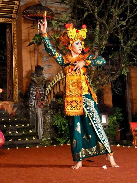 Legong dance at the Ubud Palace in Ubud, Bali.