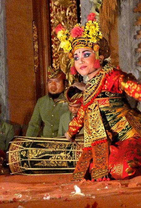 Legong Kraton dance at Ubud Palace in Ubud, Bali.
