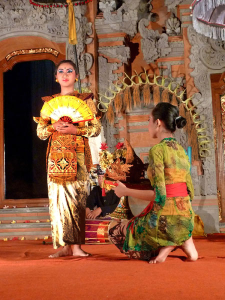 A Legong goes into trance at Ubud Palace in Ubud, Bali.