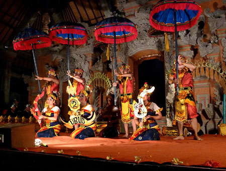 The Lencana Agung Ubud dance at Ubud Palace in Ubud, Bali.