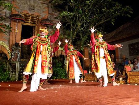Sunda Upasunda dance at the Ubud Palace in Ubud, Bali.