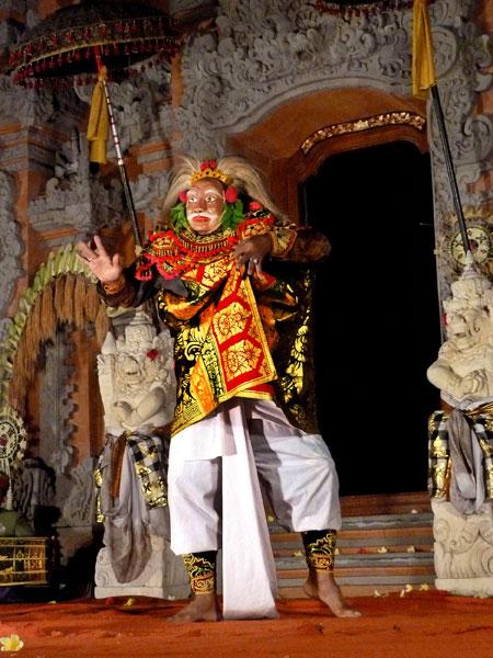 Topeng Tua dance at Ubud Palace in Ubud, Bali.