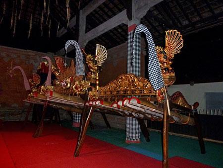 Jegog bamboo gamelan in Bentuyung village, Bali.