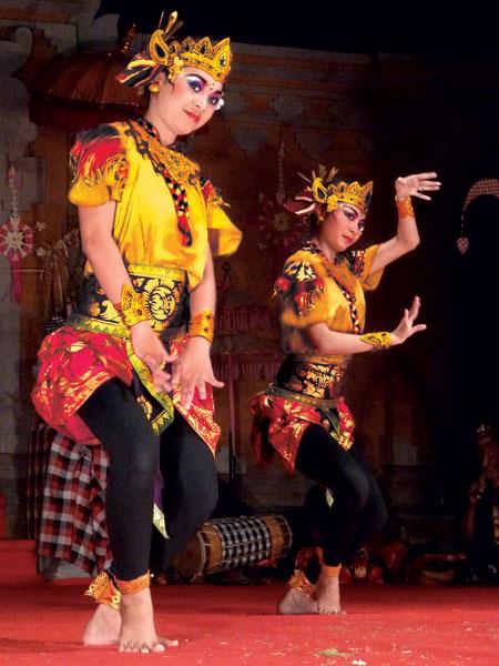 The Mekepung dance in Bentuyung village, Bali.