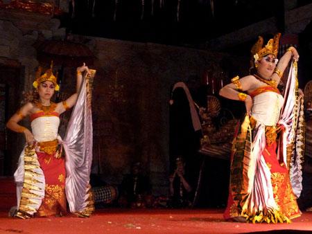 The Belibis dance in Bentuyung village, Bali.