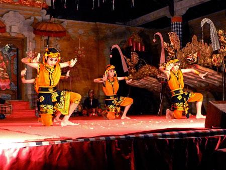 The Gopola dance in Bentuyung village, Bali.