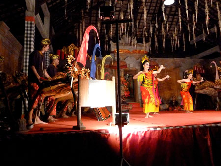 The Panyembrana dance in Bentuyung village, Bali.