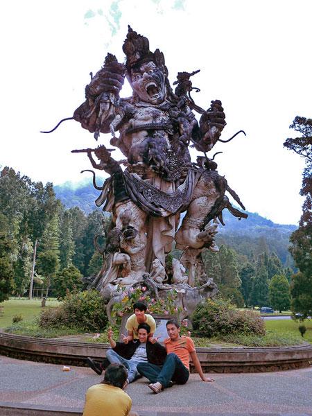 The Statue of Mayhem. Bali Botanical Gardens in Candikuning, Bali.