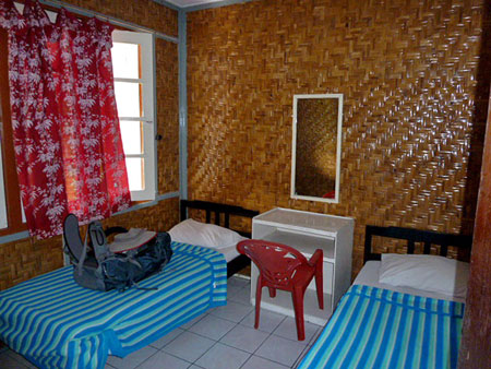My funky room at the Ashram Guest House in Candikuning, Bali.