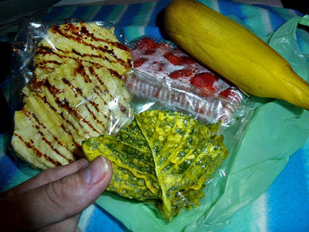 A late-night snack handmade by the locals in Candikuning, Bali.