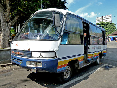 A funny little bus in Denpasar, Bali.