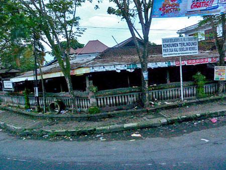 A grim little scene near Denpasar, Bali.