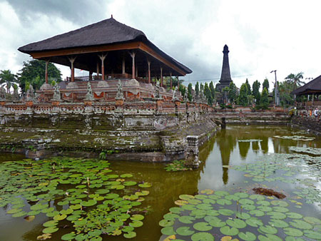 A lily pad pool in Klungkung, Bali.
