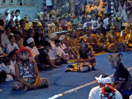 Bondres at Pura Dalem Puri in Peliatan, Bali.