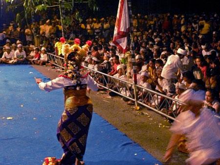 The Galuh dance at Pura Dalem Puri in Peliatan, Bali.