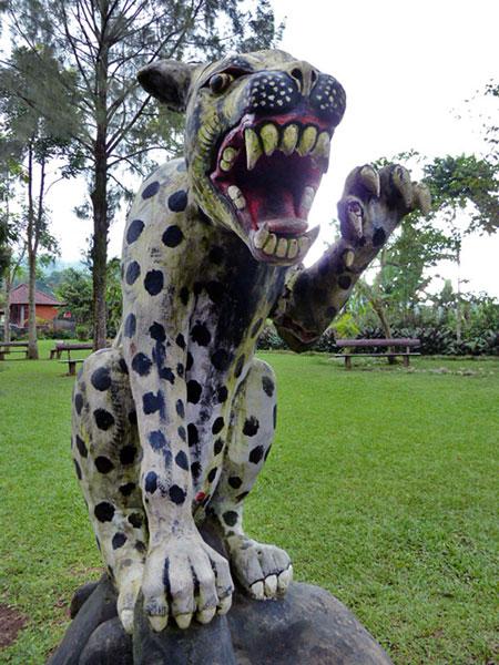 I got attacked by a leopard at Pura Ulun Danu Brutan, Bali.
