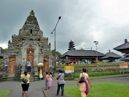 Part of the Hindu-Buddhist temple complex at Pura Ulun Danu Bratan, Bali.