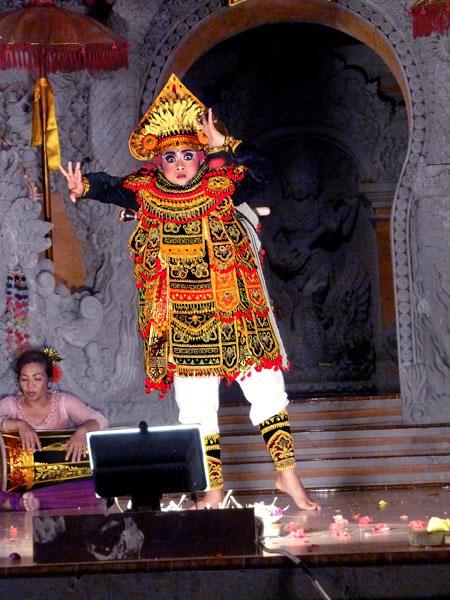 The Baris dance at Ubud Kelod in Ubud, Bali.