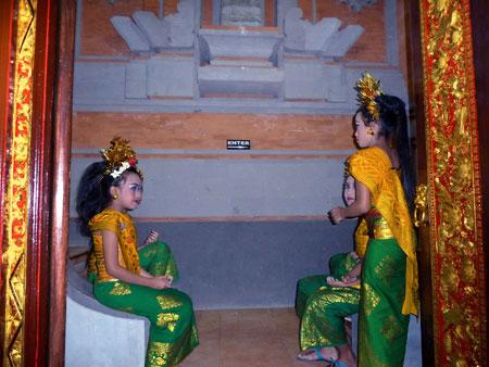 Gabor dancers at Ubud Kelod in Ubud, Bali.