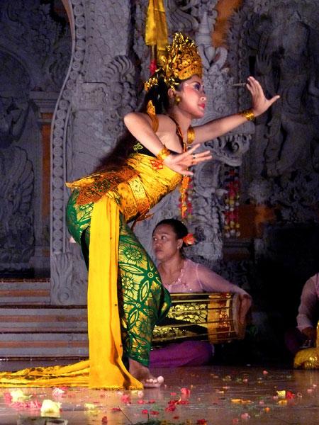 The Oleg Tambulilingan dance at Ubud Kelod in Ubud, Bali.
