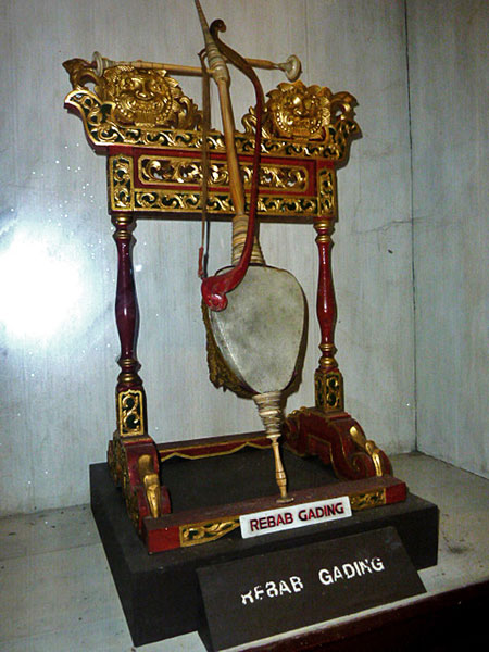 A rebab gading in the Kraton Museum in Solo, Java.
