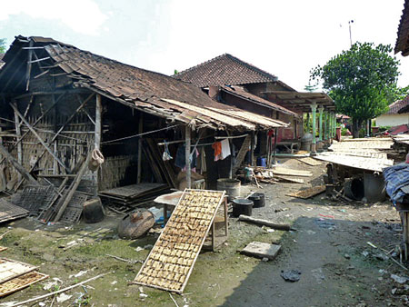 A small rice cracker factory in Solo, Java.