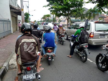 Bootleg eS jacket in Yogyakarta, Java.
