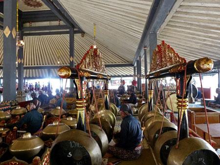 Gamelan at the Sultan's Palace in Yogyakarta, Java.