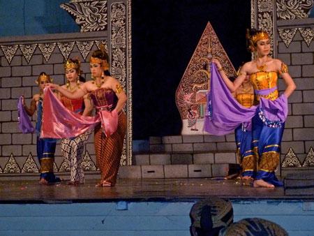 The Ramayana Ballet at Purawisata in Yogyakarta, Java.