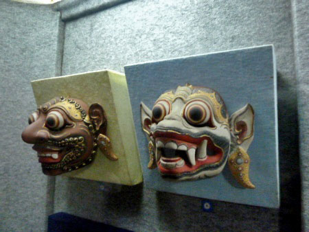 Javanese masks in the Sono-Budoyo Musem in Yogyakarta, Java.