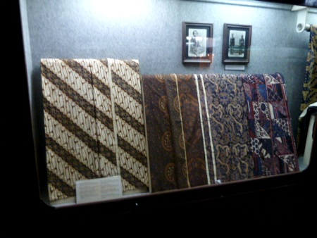 I guess you might say this is some high-quality batik in the Sono-Budoyo Musem in Yogyakarta, Java.