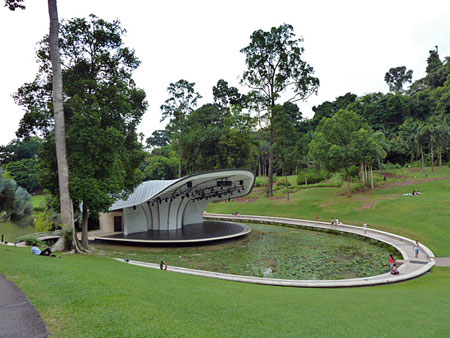 All the world's a stage in the Singapore Botanic Gardens.