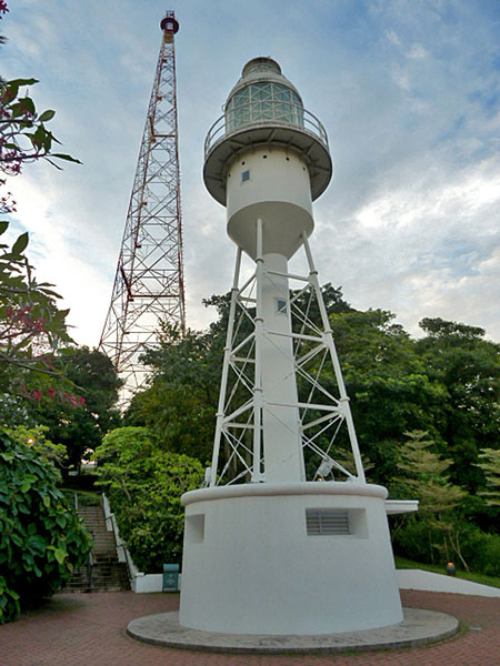 Mr. Lighthouse and his buddy Mr. Tower hang out together in Fort Canning, Singapore.