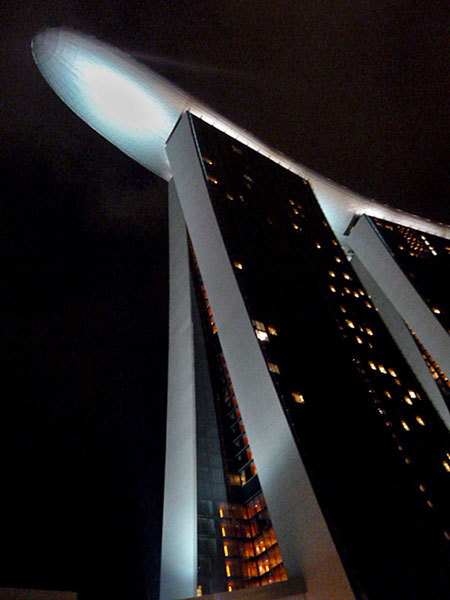 Here's looking at you, kid. The Marina Bay Sands in Singapore.