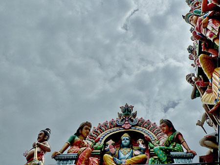 The Sri Mariamman Temple in Chinatown, Singapore.