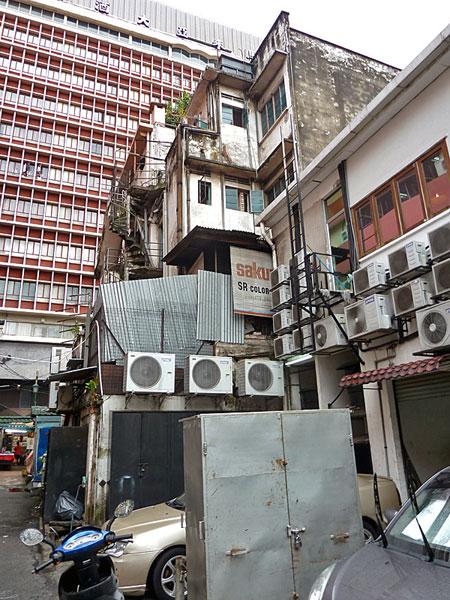 Cranked air con in Chinatown, Kuala Lumpur, Malaysia.