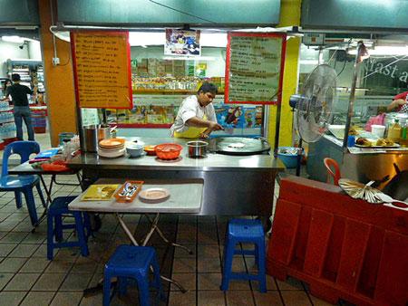 My favorite food cart in Chinatown, Kuala Lumpur, Malaysia.