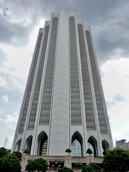The Dayabumi skyscraper in Kuala Lumpur, Malaysia.