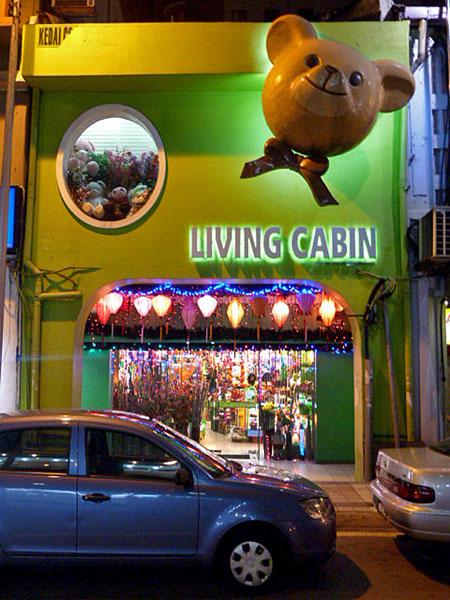 The Living Cabin shop in Chinatown, Kuala Lumpur, Malaysia.
