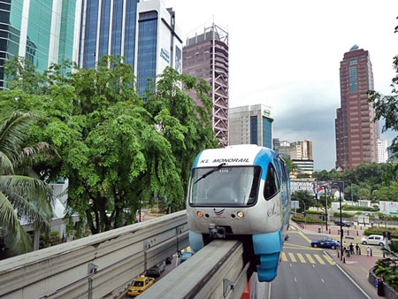Does your crummy town have a monorail? I didn't think so. Kuala Lumpur, Malaysia does!