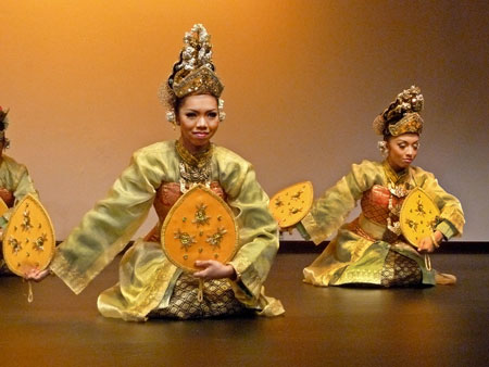 A traditional Malaysian dance at the Malaysian Tourist Information Complex in Kuala Lumpur.
