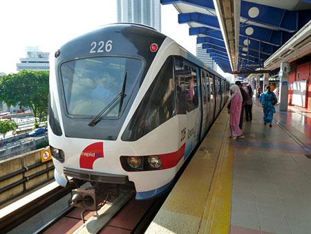 The subway in Kuala Lumpur, Malaysia.