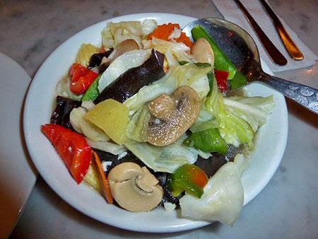 Standard stir-fry at the Old China Cafe in Chinatown, Kuala Lumpur, Malaysia.